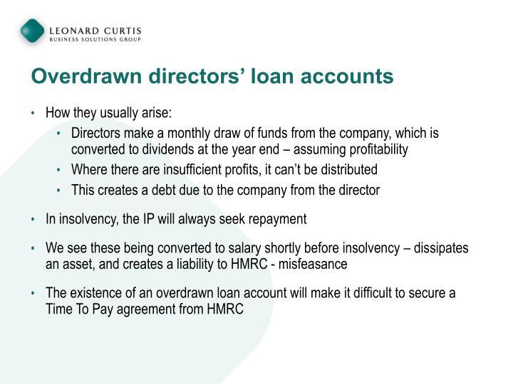 Overdrawn directors' loan accounts