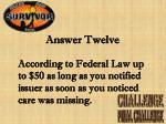 answer twelve