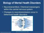 biology of mental health disorders
