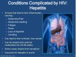 conditions complicated by hiv hepatitis
