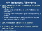 hiv treatment adherence