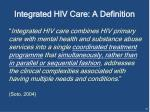 integrated hiv care a definition