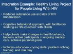 integration example healthy living project for people living with hiv