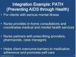 integration example path preventing aids through health