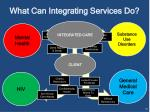 what can integrating services do