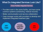 what do integrated services look like4