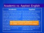 academic vs applied english