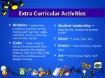 extra curricular activities