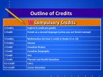 outline of credits