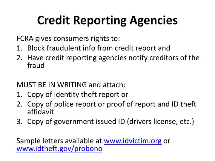 Credit Reporting Agencies