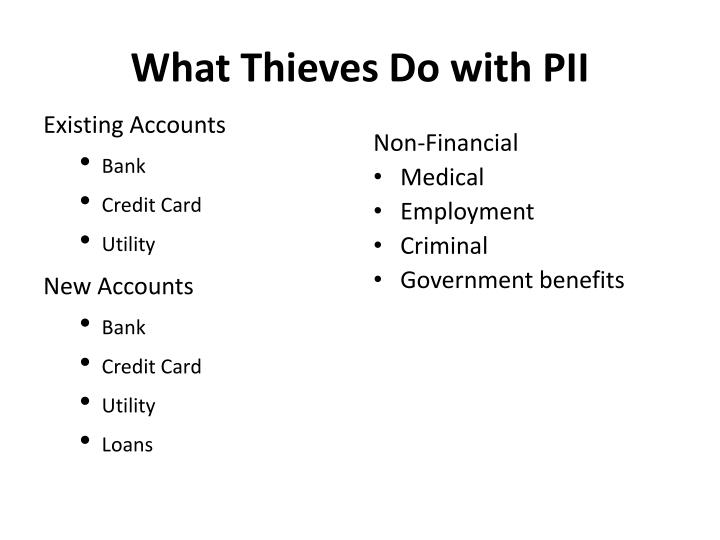 What Thieves Do with PII