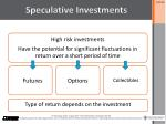 speculative investments