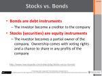 stocks vs b onds