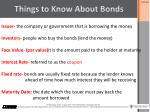 things to know about bonds