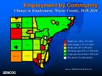 employment by community change in employment wayne county 2010 2020