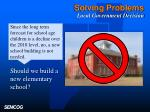 solving problems local government decision
