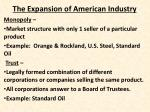 the expansion of american industry2