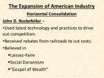 the expansion of american industry4