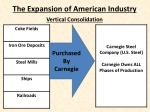 the expansion of american industry6