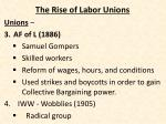 the rise of labor unions3