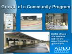 growth of a community program