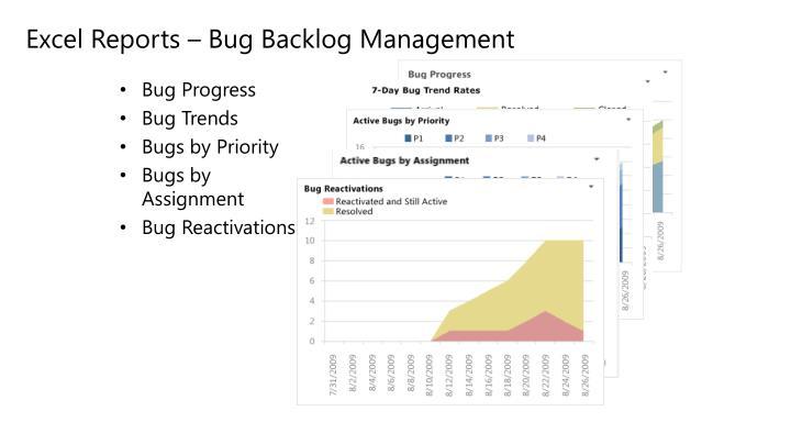 Excel Reports – Bug Backlog Management