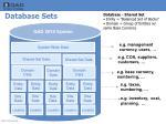 database sets