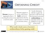 obtaining credit