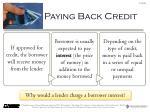 paying back credit