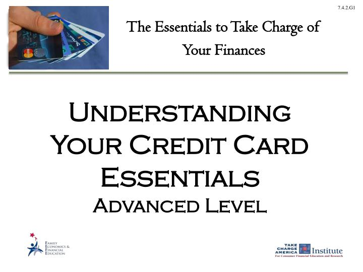 understanding your credit card essentials advanced level n.