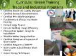 curricula green training trade and industrial programs