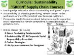 curricula sustainability green supply chain courses