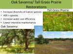 oak savanna tall grass prairie restorations
