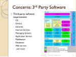 concerns 3 rd party software