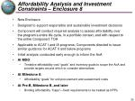 affordability analysis and investment constraints enclosure 8
