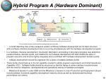 hybrid program a hardware dominant