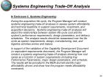 systems engineering trade off analysis