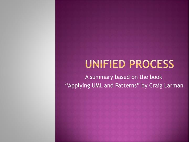 unified process n.