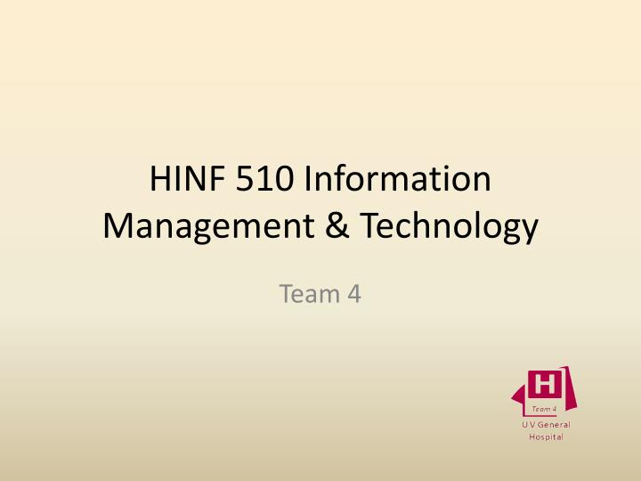 hinf 510 information management technology n.