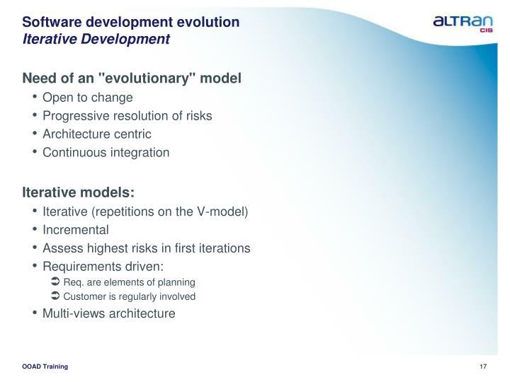 Software development evolution