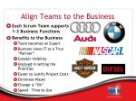 align teams to the business