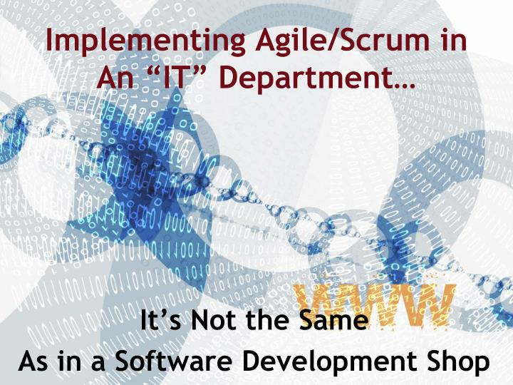 implementing agile scrum in an it department n.