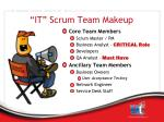 it scrum team makeup