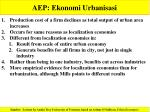 aep ekonomi urbanisasi