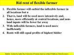 bid rent of flexible farmer