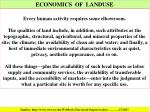 economics of landuse
