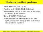 flexible versus fixed producers