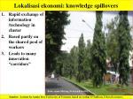 lokalisasi ekonomi knowledge spillovers