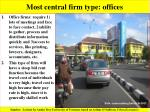 most central firm type offices