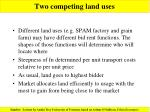 two competing land uses